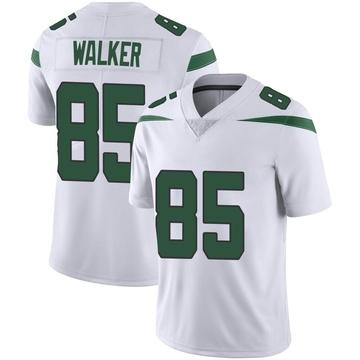 Men's Nike New York Jets Wesley Walker Spotlight White Vapor Jersey - Limited