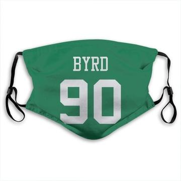 New York Jets Dennis Byrd Green Jersey Name & Number Face Mask