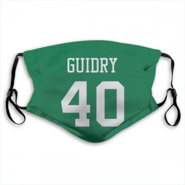 New York Jets Javelin Guidry Green Jersey Name & Number Face Mask