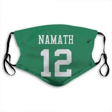 New York Jets Joe Namath Green Jersey Name & Number Face Mask