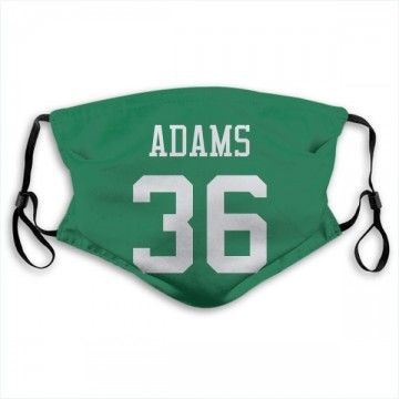 New York Jets Josh Adams Green Jersey Name & Number Face Mask