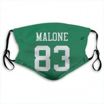 New York Jets Josh Malone Green Jersey Name & Number Face Mask