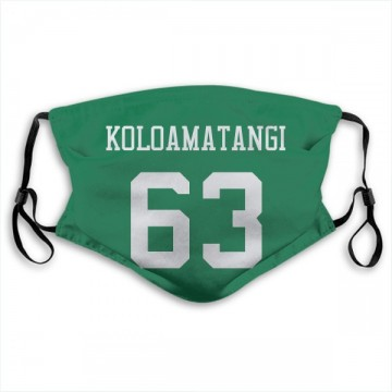 New York Jets Leo Koloamatangi Green Jersey Name & Number Face Mask
