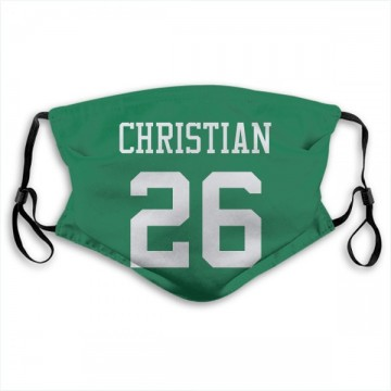 New York Jets Marqui Christian Green Jersey Name & Number Face Mask