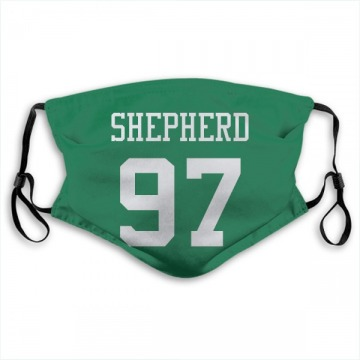 New York Jets Nathan Shepherd Green Jersey Name & Number Face Mask