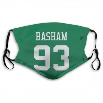 New York Jets Tarell Basham Green Jersey Name & Number Face Mask