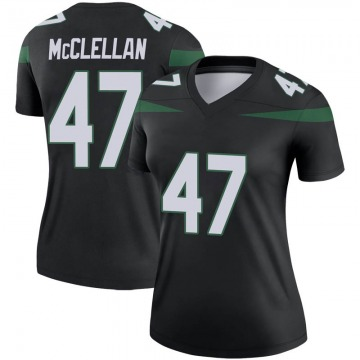 Women's Nike New York Jets Albert McClellan Stealth Black Color Rush Jersey - Legend