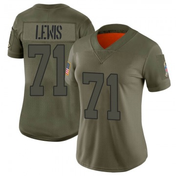 Women's Nike New York Jets Alex Lewis Camo 2019 Salute to Service Jersey - Limited