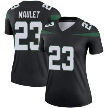 Women's Nike New York Jets Arthur Maulet Stealth Black Color Rush Jersey - Legend