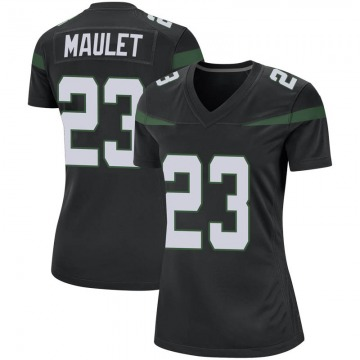 Women's Nike New York Jets Arthur Maulet Stealth Black Jersey - Game