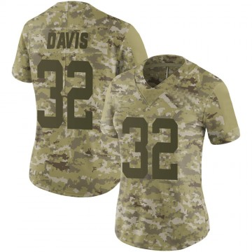 Women's Nike New York Jets Ashtyn Davis Camo 2018 Salute to Service Jersey - Limited