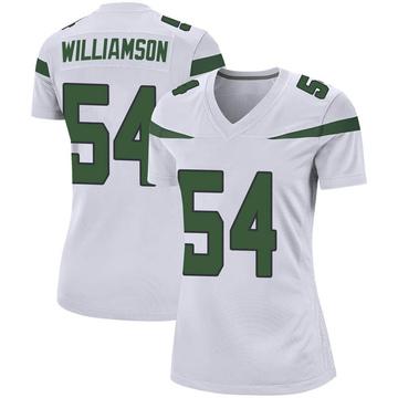 Women's Nike New York Jets Avery Williamson Spotlight White Jersey - Game