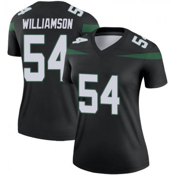 Women's Nike New York Jets Avery Williamson Stealth Black Color Rush Jersey - Legend