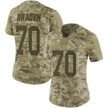Women's Nike New York Jets Ben Braden Camo 2018 Salute to Service Jersey - Limited