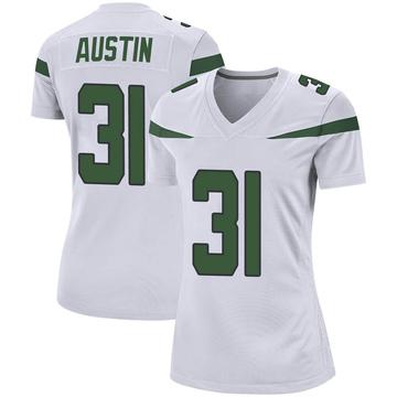 Women's Nike New York Jets Blessuan Austin Spotlight White Jersey - Game