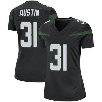 Women's Nike New York Jets Blessuan Austin Stealth Black Jersey - Game