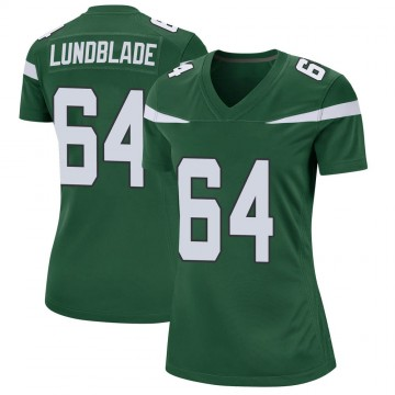 Women's Nike New York Jets Brad Lundblade Gotham Green Jersey - Game