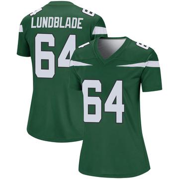 Women's Nike New York Jets Brad Lundblade Gotham Green Player Jersey - Legend