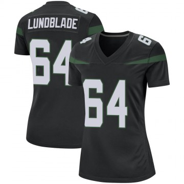 Women's Nike New York Jets Brad Lundblade Stealth Black Jersey - Game