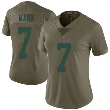 Women's Nike New York Jets Braden Mann Green 2017 Salute to Service Jersey - Limited