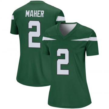 Women's Nike New York Jets Brett Maher Gotham Green Player Jersey - Legend