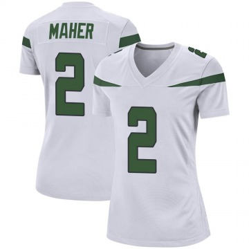 Women's Nike New York Jets Brett Maher Spotlight White Jersey - Game