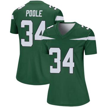 Women's Nike New York Jets Brian Poole Gotham Green Player Jersey - Legend