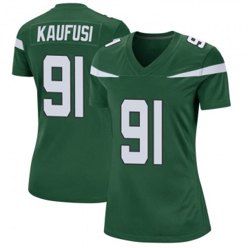 Women's Nike New York Jets Bronson Kaufusi Gotham Green Jersey - Game