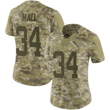 Women's Nike New York Jets Bryce Hall Camo 2018 Salute to Service Jersey - Limited
