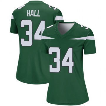 Women's Nike New York Jets Bryce Hall Gotham Green Player Jersey - Legend