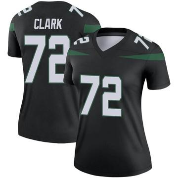 Women's Nike New York Jets Cameron Clark Stealth Black Color Rush Jersey - Legend