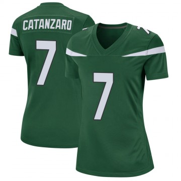 Women's Nike New York Jets Chandler Catanzaro Gotham Green Jersey - Game