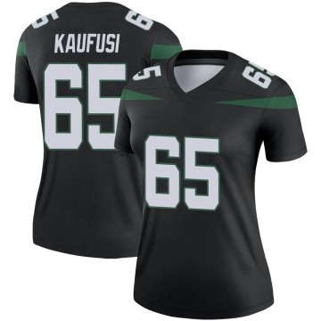 Women's Nike New York Jets Corbin Kaufusi Stealth Black Color Rush Jersey - Legend