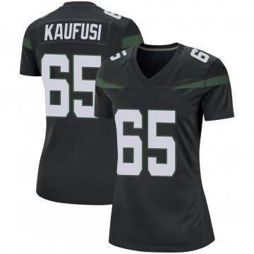 Women's Nike New York Jets Corbin Kaufusi Stealth Black Jersey - Game