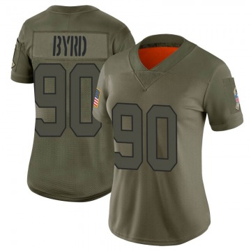 Women's Nike New York Jets Dennis Byrd Camo 2019 Salute to Service Jersey - Limited