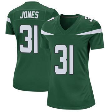 Women's Nike New York Jets Derrick Jones Gotham Green Jersey - Game
