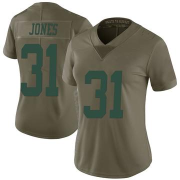 Women's Nike New York Jets Derrick Jones Green 2017 Salute to Service Jersey - Limited