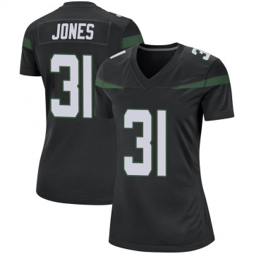 Women's Nike New York Jets Derrick Jones Stealth Black Jersey - Game