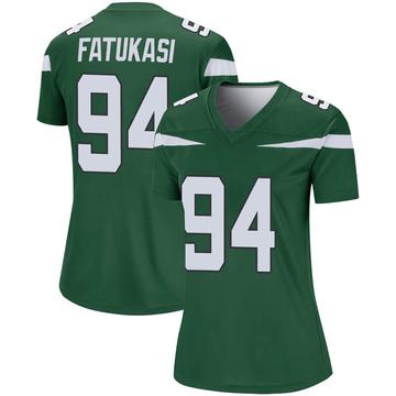 Women's Nike New York Jets Folorunso Fatukasi Gotham Green Player Jersey - Legend