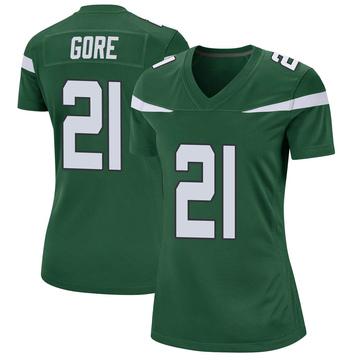 Women's Nike New York Jets Frank Gore Gotham Green Jersey - Game