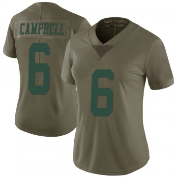 Women's Nike New York Jets George Campbell Green 2017 Salute to Service Jersey - Limited