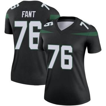 Women's Nike New York Jets George Fant Stealth Black Color Rush Jersey - Legend