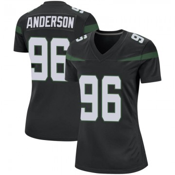Women's Nike New York Jets Henry Anderson Stealth Black Jersey - Game