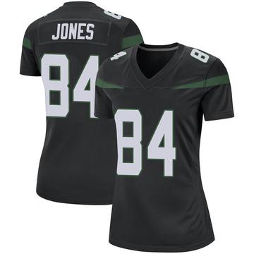 Women's Nike New York Jets J.J. Jones Stealth Black Jersey - Game