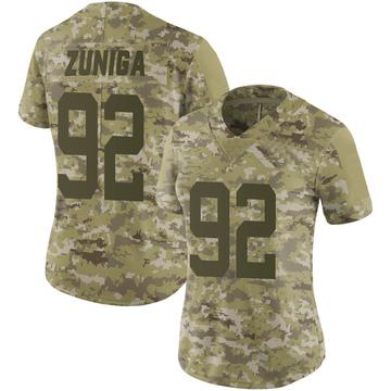 Women's Nike New York Jets Jabari Zuniga Camo 2018 Salute to Service Jersey - Limited
