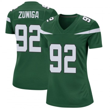 Women's Nike New York Jets Jabari Zuniga Gotham Green Jersey - Game