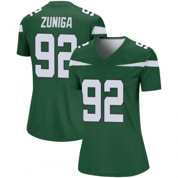 Women's Nike New York Jets Jabari Zuniga Gotham Green Player Jersey - Legend