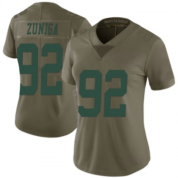 Women's Nike New York Jets Jabari Zuniga Green 2017 Salute to Service Jersey - Limited