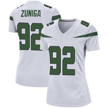 Women's Nike New York Jets Jabari Zuniga Spotlight White Jersey - Game