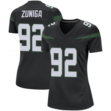 Women's Nike New York Jets Jabari Zuniga Stealth Black Jersey - Game